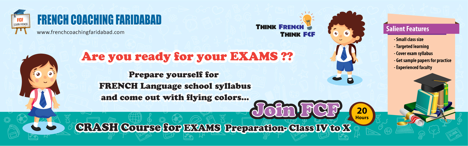 French Language Coaching classes for School Students in Faridabad